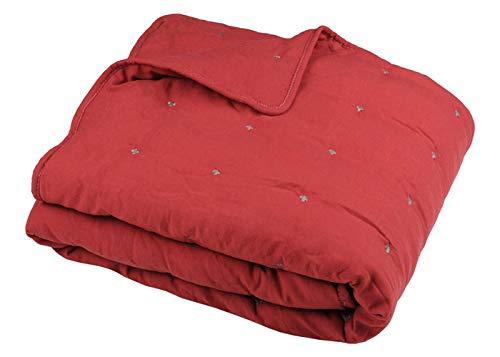 STOF Jeté de lit HONORINE - Rouge, 220x240cm