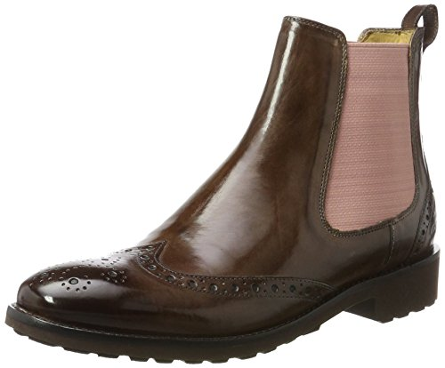 MELVIN & HAMILTON MH HAND MADE SHOES OF CLASS Damen Amelie 5 Chelsea Boots, Braun (Crust Chestnut, Ela. Rose, Rook D Dk. BRW), 41 EU