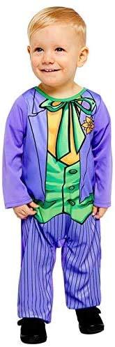 Amscan 9907668 Disfraz de Joker cómic para Halloween, 6-12 meses