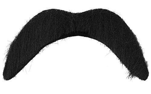 4 X Noir Adhésif Faux Tash Guidon Moustache Mexicain / 118 / YMCA Accessoire Déguisement