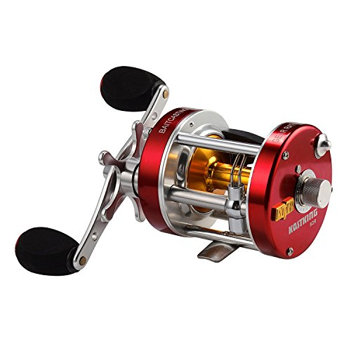 KastKing Rover Round Baitcasting Reel, Left Handed Fishing Reel,Rover80