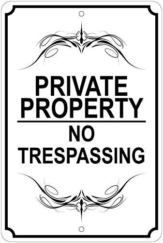 Private Property/No Trespassing (Fancy) Notice 8'x12' Aluminum Sign