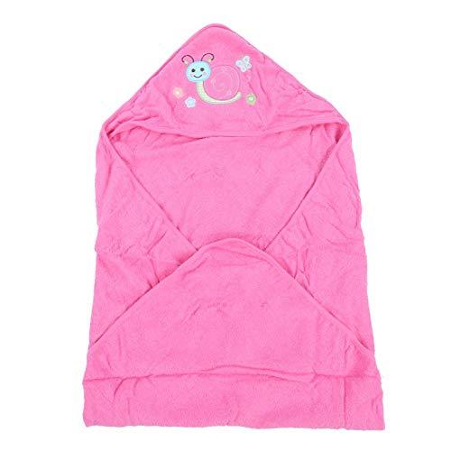 Baby washandjes, Ultra absorberend, Babybadaccessoire Zachte babybadhanddoek met capuchon,(Pink snail cloak bath towel)