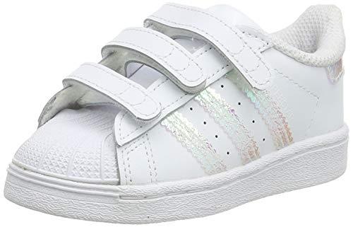 adidas Originals Unisex-Child Superstar Sneaker, Footwear White/Footwear White/Footwear White, 34 EU