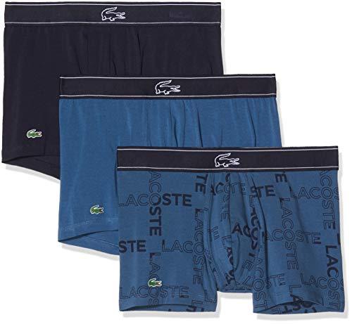Lacoste Herren Ramc702 Unterhose, Mehrfarbig (Ensgn/Ensgn/Ngt 410), XX-Large (3er Pack)