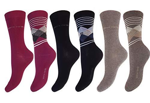 Pierre Cardin 6-18 Paar Mara Damen Socken Strümpfe Baumwolle Bunt 35-38/39-42 (6, 35-38)