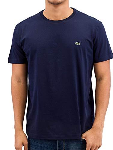 Lacoste Herren T-Shirt TH2038-00 Einfarbig, Blau (NAVY BLUE 166), Gr. 4 (Herstellergröße: M)