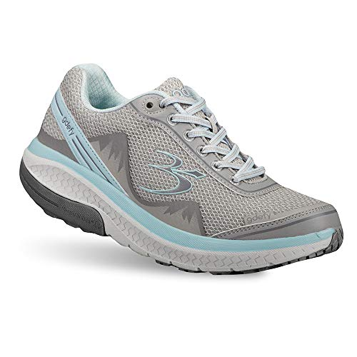 Gravity Defyer Pain Relief Women's G-Defy Mighty Walk Athletic Shoes 7.5 W US - Women's Walking Shoes for Plantar Fasciitis - Gray, Blue