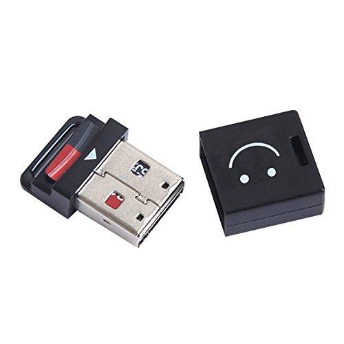 ChenYang, lettore di schede di memoria da USB 2.0 a Micro SD T-Flash TF M2 per cellulari e tablet, piccole dimensioni, colore nero