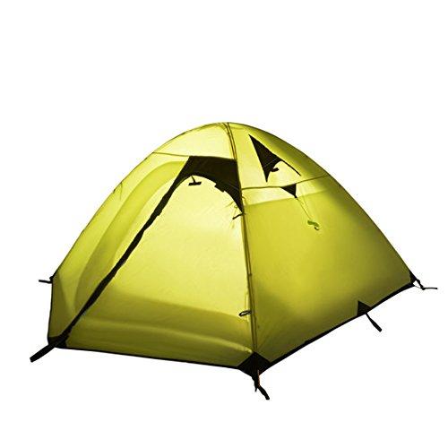 WENTAO Tienda para Camping 3 Personas Doble Layernylon 210T