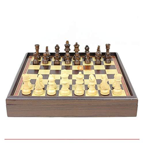 U/D Juego de Tablero de ajedrez Juego de ajedrez de Madera Caja de Madera Mesa de Madera Protección Ambiental Pintura de Agua Verde Natural Pintura de Escritorio