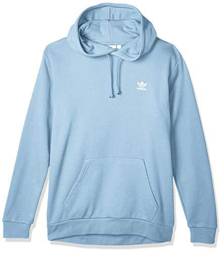 adidas Mens Essential Hooded Sweatshirt, Clear Sky, M