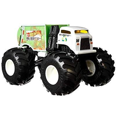 Hot Wheels Monster Trucks 1:24 Scale Assortment, Will Trash It All by Mattel