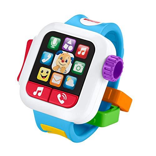 Fisher-Price Smart Watch Scopri e Impara, Insegna Numeri e Colori, Giocattolo per Bambini 6+ Mesi, GMM57