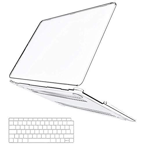 Belk Custodia MacBook Air 13 Pollici 2020 2019 2018 con Retina Display & Touch ID A2179 A1932 Case, Ultra Sottile Plastica Rigida Cover + Copertura della Tastiera - Trasparente
