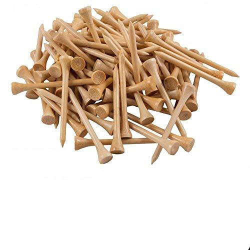WHK 100 Piezas de Camisetas de Golf, 42 mm / 54 mm / 70 mm / 83 mm Camisetas de bambú, Accesorios de práctica de Swing de...