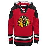 OuterStuff NHL - Felpa con cappuccio per bambini Chicago Blackhawks Youth Ageless, Colori della squadra, L (14/16)