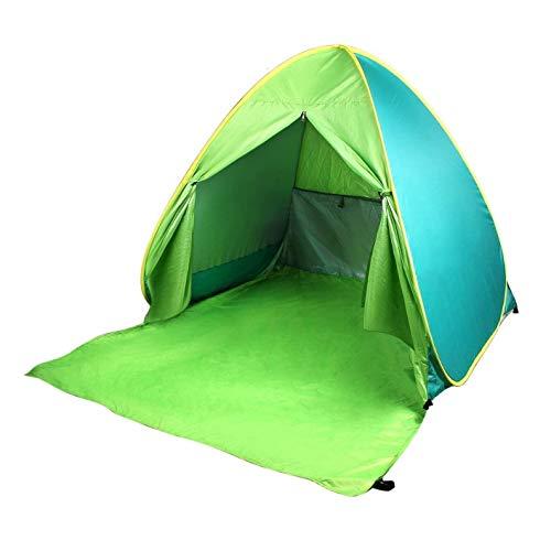 Viudecce Tienda de Playa UPF 50+ Sombrilla AutomáTica de ProteccióN Solar Sombrilla Exterior para Acampar Pesca Playa Apto para 2-3 Personas