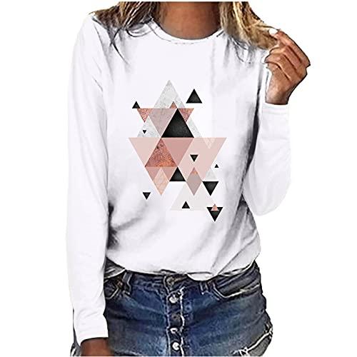 여성용 가을 긴 소매 티셔츠 탑스 패션 그래픽 프린트 캐주얼 CREWNECK LOOSE FIT SWEATSHIRT BLOUSES LADIES