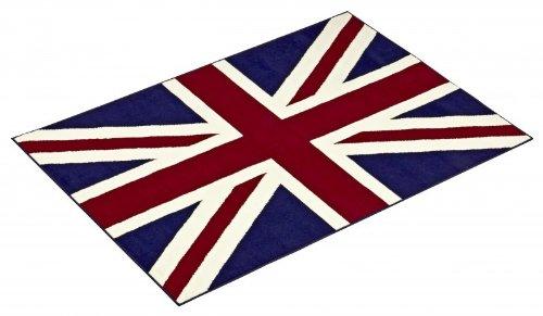 HANSE Home Union Jack England/London Fahne Teppich, Größe:80x120