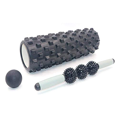WCY Foam Roller Säule Muskelentspannung Roller Massage Artifact Fitness Rad eng anliegendes Bein Halten Fascia Yoga Geräte Massage-Sets, ab Rolle Laufrad yqaae (Color : Black, Size : Style b)