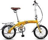 Aoyo 16' Falträder, Erwachsene Kinder Mini Single Speed faltbares Fahrrad, Aluminiumlegierung leichte, tragbare Folding Stadt-Fahrrad, (Color : Beige)
