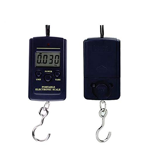 40kg 10g Mini Electronic Scale for Fishing Weight Luggage Scale Hanger Portable Hanging Scales Hand Travel Balanza LCD Display