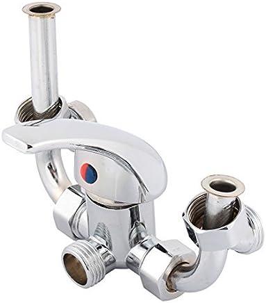 Acabado Cromo eDealMax baño de latón 1 / 2PT Masculino culata en T Calentador de agua