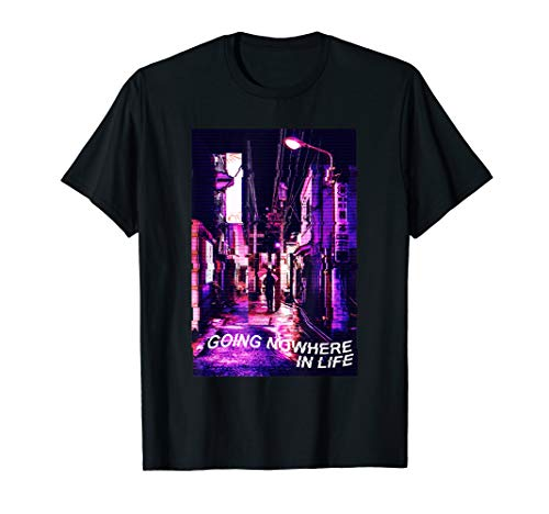 Sad and depressed 90s Going Nowhere In Life Vaporwave T-Shirt