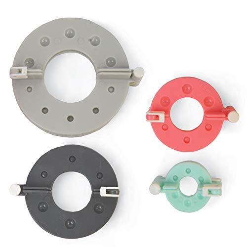 Sizzix 663004 Pom Maker Set da 4 pezzi - Craft Supplies, Multicolor Accessorio Crea Pompon, 8.9 cm-3.5 cm