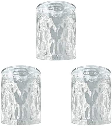 LHLYCLX 3 Pack Cylinder Glass Lamp Shade Hammered Seeded Glass Cover Replacements for Lighting product image