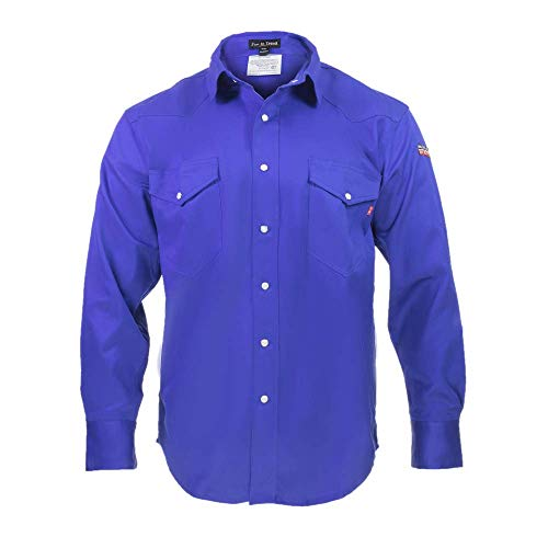 Flame Resistant FR Shirt  100% C  Light Weight XLarge Royal Blue