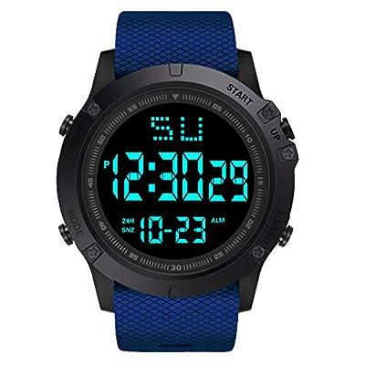 Sport Watch, 50M Waterproof Watch, Sport Wrist Watch for Men Women Kids, Digital Watch with Alarm Date and Time (Blue -6)