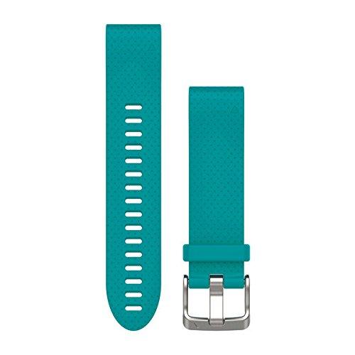 Garmin - Bracelet de Rechange pour Montres Fenix 5S - QuickFit - 20 mm - Silicone - Turquoise