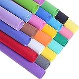Toyvain, carta spessa in schiuma EVA, per fai da te, materiali artigianali, scrapbooking, cartone, decorazioni (colori misti, 1 mm)