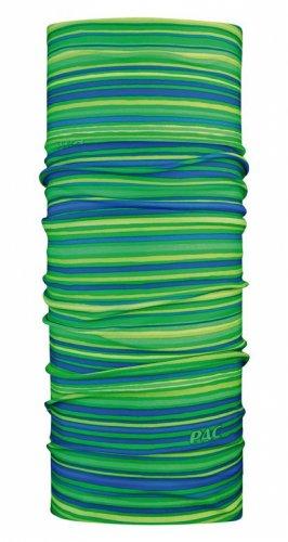 PAC Multifunktionstuch Mund Maske Original Wind Schutz, All Stripes Lime - Grün Blau, 8810