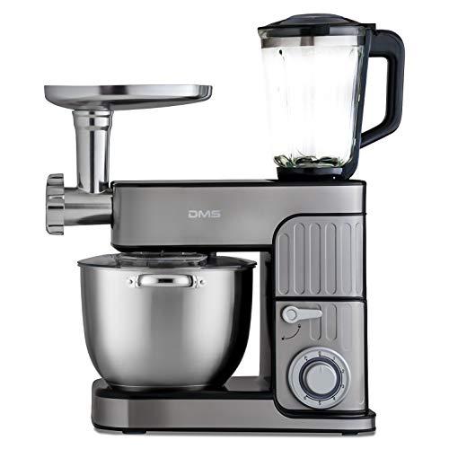 DMS® 3in1 Edelstahl Küchenmaschine...