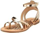 Pepe Jeans March Basic Metal, Sandalias de Gladiador Mujer, Gold Champagne 835, 38 EU