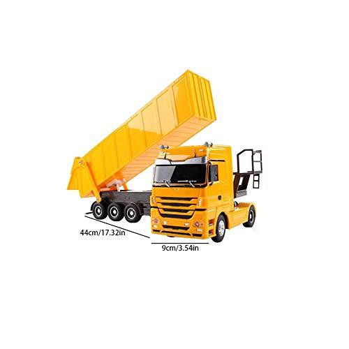 RC Auto kaufen LKW Bild 2: Etanby 1:32 RC Ferngesteuertes Bau LKW Fahrzeug Container Transporter Modell, 2,4 GHz 6-Kanal Ferngesteuertes Baustellenfahrzeug, Baustellenfahrzeug Mit Fernbedienung,Geeignet für Kinder über 6 Jahre*