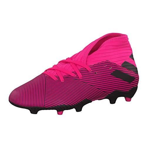 adidas Nemeziz 19.3 FG Niño, Bota de fútbol, Shock Pink-Core Black-Shock Pink, Talla 3.5 UK (36 EU)