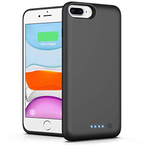 VOOE CoverBatteriaperiPhone7Plus 6SPlus 8Plus 6Plus,8500mahCoverRicaricabileCustodiaBatteriaCoverCaricabatterieBatteryCaseperiPhone7Plus 6SPlus 8Plus 6Plus[5.5 ]PowerBank
