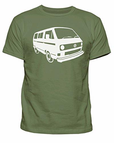 Herren-T-Shirt VW Campervan T25 Camper Retro Camp Van Volkswagen Top T-Shirt New S-XXL Gr. L, armee-grün
