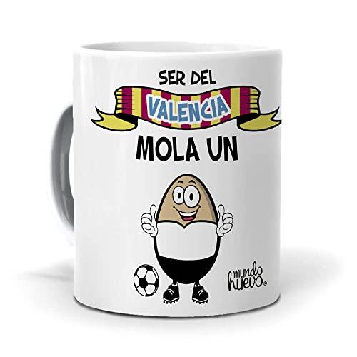Taza Ser del Valencia Mola un Huevo. Cerámica AAA - 350 ml.