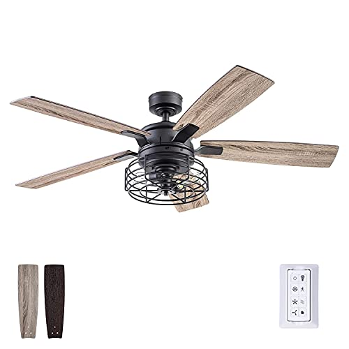 Prominence Home 51485-01 Cypher Ceiling Fan, 52, Matte Black