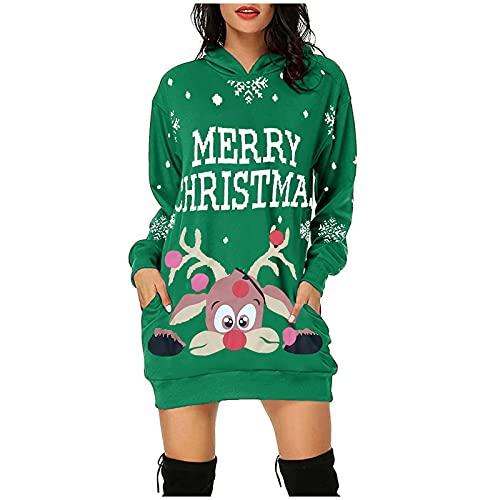 Kleider Damen Festlich Vintage Langarm Sexy Party Kleider Weihnachts Kostüm Cartoon Drucken Oberteil Langarmshirt LäSsig Sweatshirt FrüHling Herbst Winter Shirts Festliche Geschenk