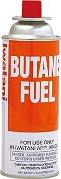 Iwatani BU-6 Butane Fuel 8 oz Orange
