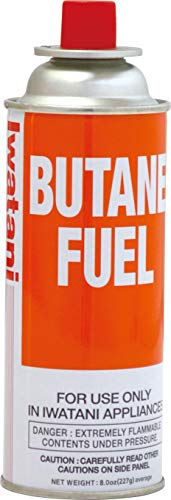 Iwatani Corporation of America BU-6 butane fuel, 8 oz, Orange