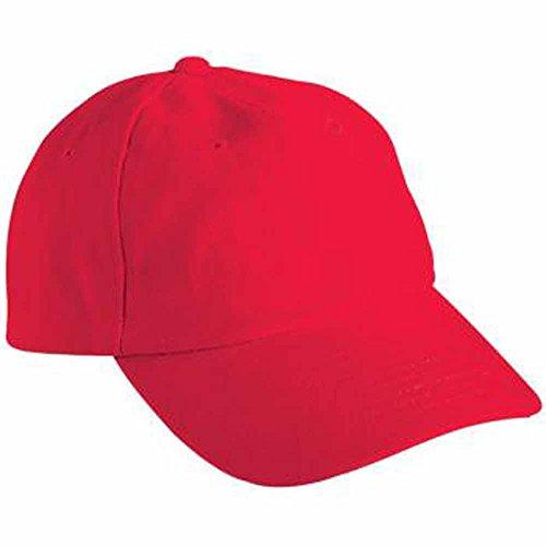 MYRTLE BEACH - Casquette visière Unie 6 Panneaux Coton - MB6111 - Rouge Vif - Mixte Adulte