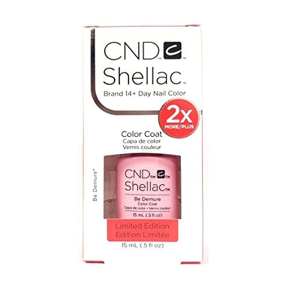 発掘モジュール検出可能CND Shellac - Limited Edition! - Be Demure - 15ml / 0.5oz