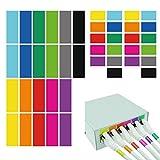 AIXONTEC 240 hitzebeständige Kabeletiketten 120 Wickeletiketten & 120 Port Label Mehrfarbig beschriften Kabelmarker bunt 48 Etiketten pro Kabeletikettbogen Set selbstklebend datenkabel Organizer